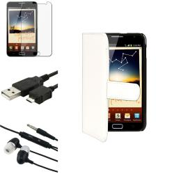 White Case/Screen Protector/Headset/Cable for Samsung� Galaxy Note N7000