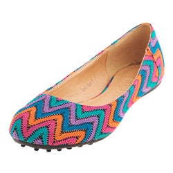 Henry Ferrera Women's 'Good Days' Zigzag Crochet Flats