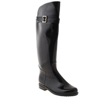 Henry Ferrera Women's Black Over-the-knee Rain Boots