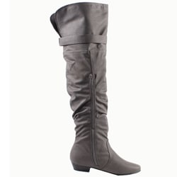 Blossom by Beston Women's 'Firenze-9' Gray Over-the-Knee Boots