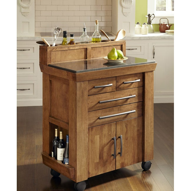 The vintage gourmet kitchen cart 14605934 overstock - Cheap portable kitchen island ...