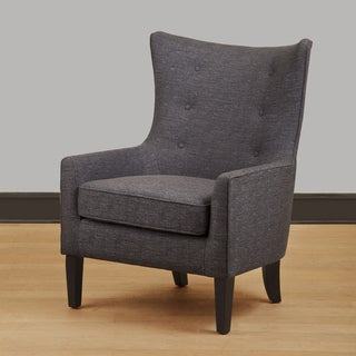 Carissa Grey Wing Back Chair