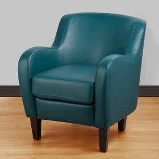 Bedford Turquoise Bonded Leather Tub Chair