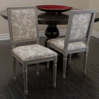Christopher Knight Home Westin Grey Printed Wood Dining Chairs (Set of 2)