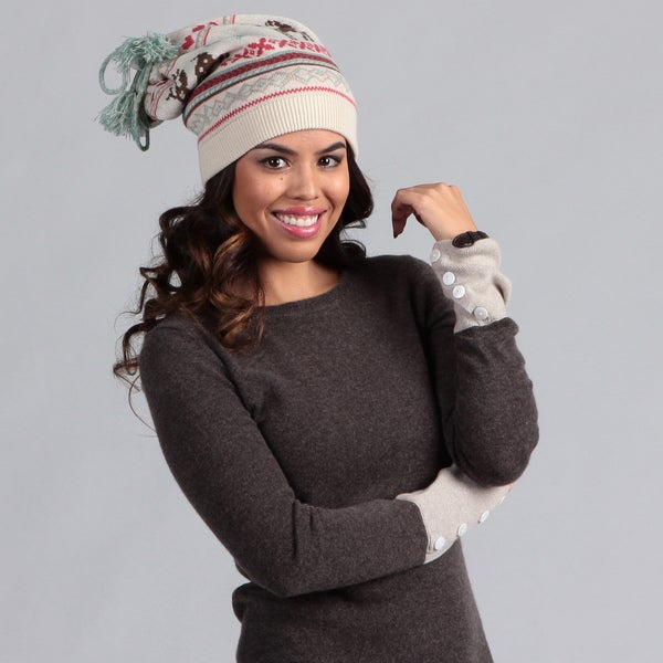 Muk Luks Women's Scandinavian Hat and Neckwarmer Set
