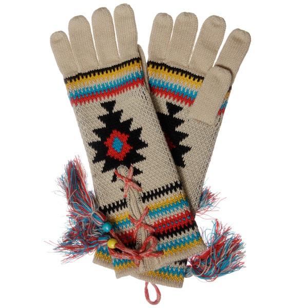Muk Luks Women's Painted Desert Lace-up Gloves