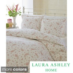 Laura Ashley Flannel 3-Piece Duvet Cover Set