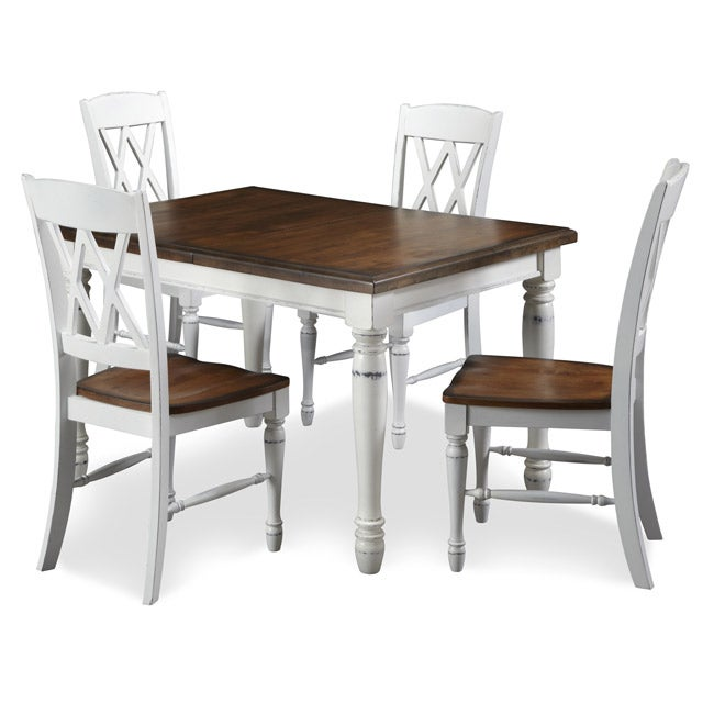monarch antique white dining table images