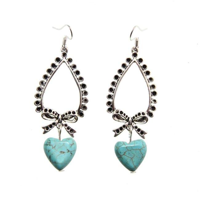 Heart Turquoise Earrings (China)