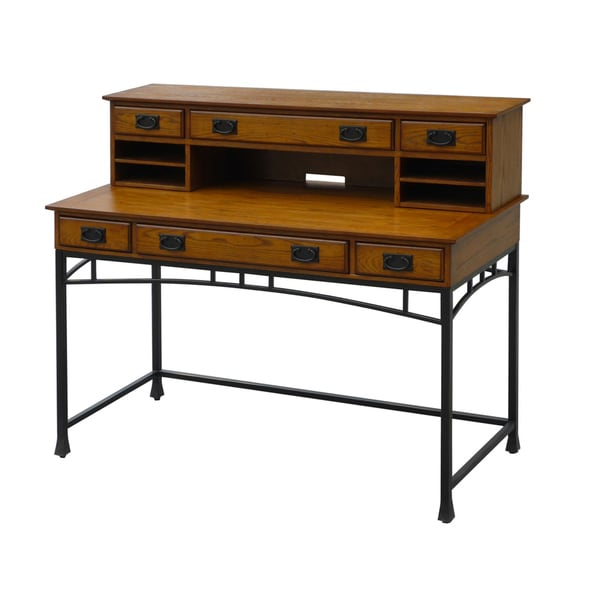 Home Styles Craftsman Executive Desk and Hutch