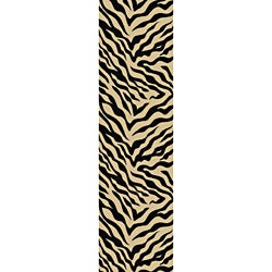 Beige Zebra Print Non-skid Runner (1' 8 x 4'11)