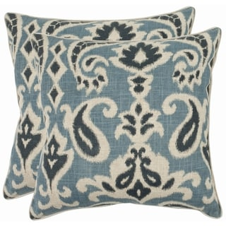 Paisley 18-inch Blue Decorative Pillows (Set of 2)