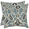 Paisley 22-inch Blue Decorative Pillows (Set of 2)