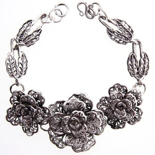 Miao Silver Rose Bracelet (China)