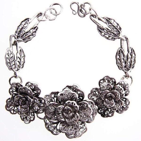 Miao Silver Rose Bracelet (China)