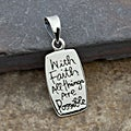 Sterling Silver Faith Message Pendant (Thailand)