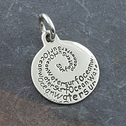 Hand-crafted Sterling Silver Nature Message Pendant (Thailand)