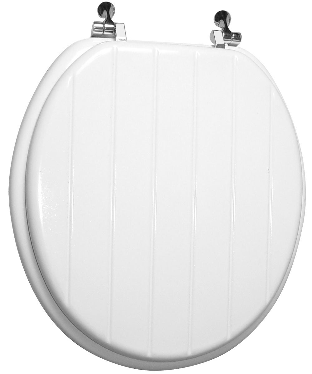 Trimmer Engraved Panel Design Wood Toilet Seat