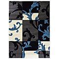 Studio 602 floral design Charcoal Area Rug (5' x 7')