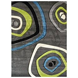Studio 600 Geometric Design Charcoal Area Rug (5' x 7')