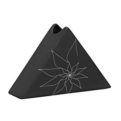 Zuo Black Bridget Triangular Vase