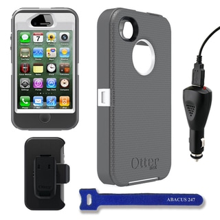 OtterBox Defender Grey/White iPhone 4/4S Protective Case and Holster Kit