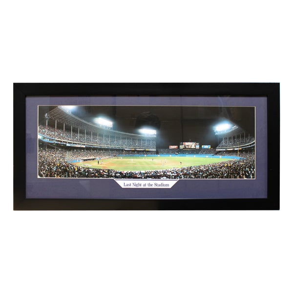 Cleveland Indians 'Last Night at the Stadium' Panoramic Frame