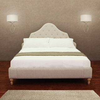 Alice Button Tufted Queen Bed Frame