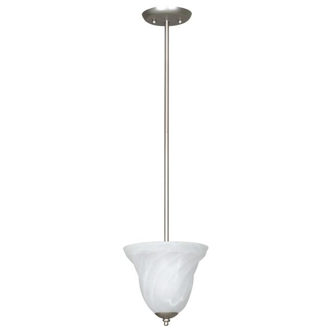 One-Light Satin Nickel Indoor Mini Pendant