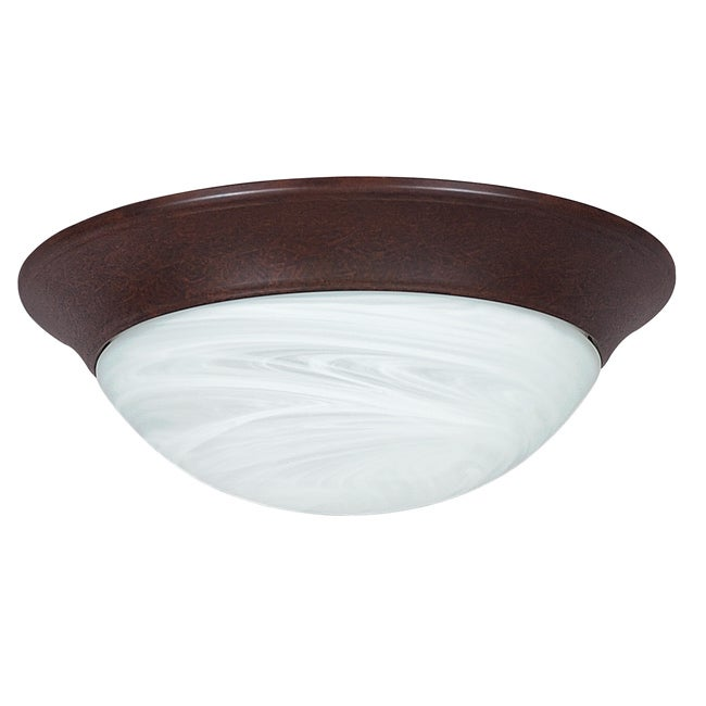 Two-Light Steel Flush Mount