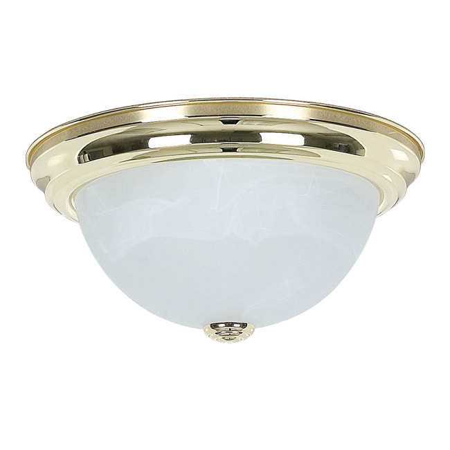 Two-Light Flush Mount with Hardwired Switch