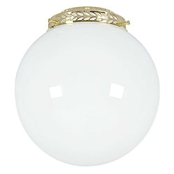 Polished Brass Opal Glass Ball Fan Light Kit