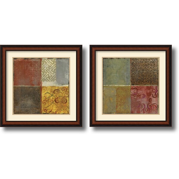Jennifer Hollack 'Pattern Luck' Framed Art Print Set 23 x 23-inch (Each)