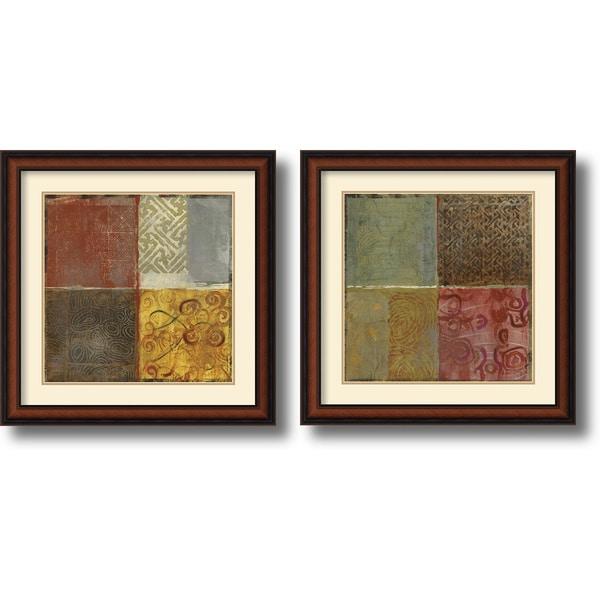 Jennifer Hollack 'Pattern Luck' Framed Art Print Set 23 x 23-inch (Each)