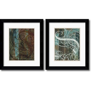 Mick Gronek 'Dust Devil and Spindrift' Framed Art Print Set 20 x 23-inch (Each)