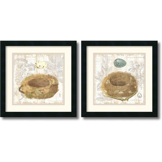 Moira Hershey 'Botanical Nest' Framed Art Print Set