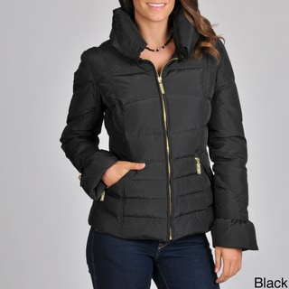 Betsey Johnson Women's Stand Collar Down-filled Jacket