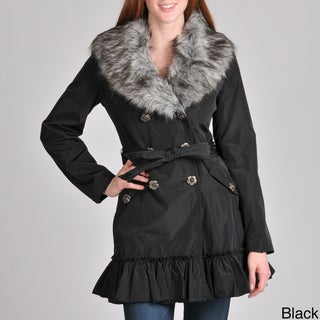 Betsey Johnson Women's Double Breasted Trench