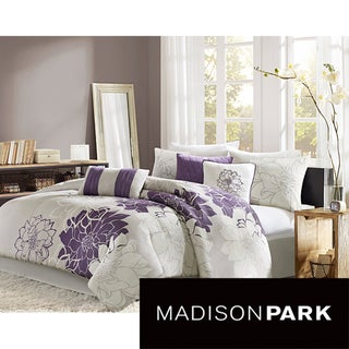 Madison Park Bridgette Floral-pattern Cotton 7-piece Comforter Set