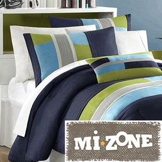 Mizone Switch 4-piece Casual Stripe Comforter Set
