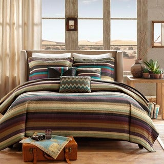 Madison Park Sequoia Multi Reversible Coverlet Set