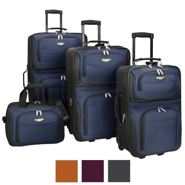 Travel Select by Traveler's Choice Amsterdam 4-piece Luggage Set Travel Bags