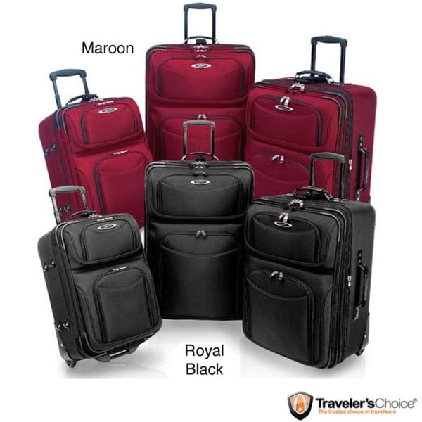 Traveler's Choice 'El Dorado' 3-piece Ballistic Nylon Luggage Set