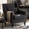 Albany Dark Gray Linen Modern Lounge Chair