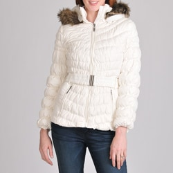 Nuage Women's Melbourne Down Jacket with Quilt Detail and Belt