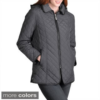 Nuage Women's Geneva Quilted Jacket with Front Zip and Removable Hood