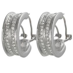 Journee Collection Silvertone Crystal 20-mm Hoop Earrings