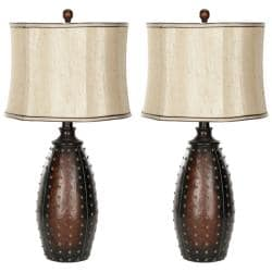 Safavieh Indoor 1-light Traditions Brown Table Lamps (Set of 2)