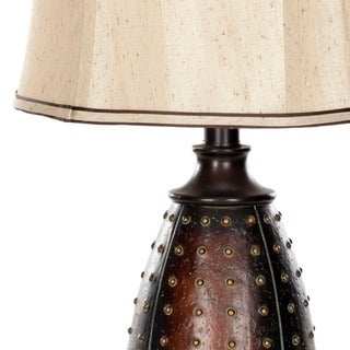 Safavieh Lighting 28-inches Traditions Brown Table Lamps (Set of 2)