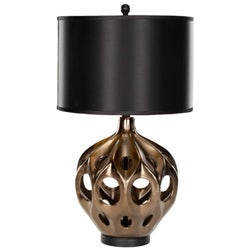 Indoor 1-light Deco Copper Finish Table Lamp